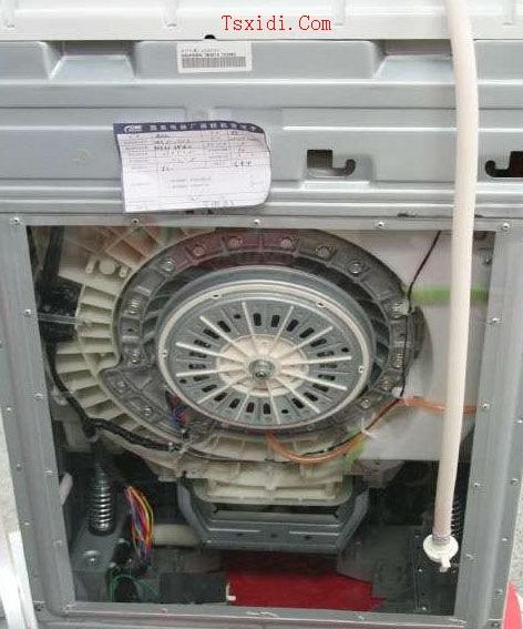 滚筒洗衣机的结构 1,洗涤部分:内筒,外筒,内筒管架,转轴,外支筒架及